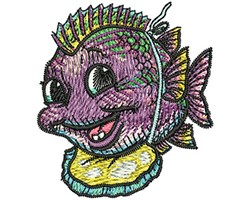 Baby Fish embroidery design