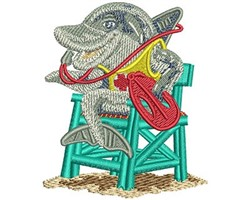 DOLPHIN LIFEGUARD embroidery design