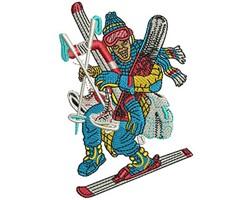 Snow Sport Man embroidery design