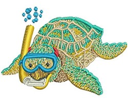 SEA TURTLE SNORKEL embroidery design