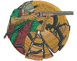 SHOTGUN CLAY PROFILE embroidery design