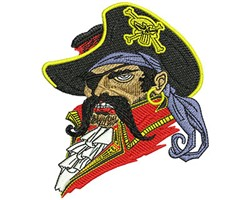 Buccaneer embroidery design