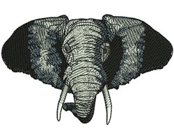 ELEPHANT HEAD embroidery design