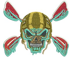 KAYAK SKULL embroidery design