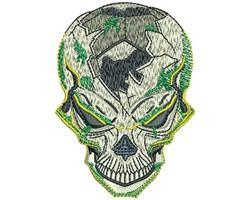 SOCCER SKULL embroidery design