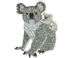 KOALA FAMILY embroidery design