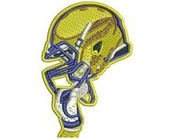 FOOTBALL NEW HELMET embroidery design