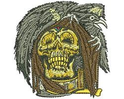 SKULL RAVEN embroidery design