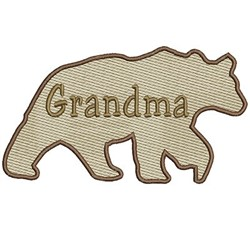 Grandma Bear embroidery design