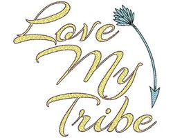 Love My Tribe embroidery design