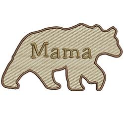 Mylar Mama Bear embroidery design