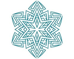 Star Mandala embroidery design