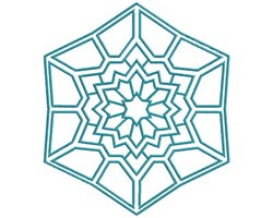 Mandala Hexagon embroidery design