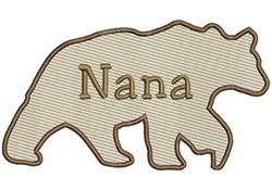 Nana Bear embroidery design