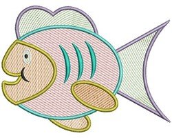 Fish Mylar embroidery design