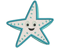 Starfish Mylar embroidery design