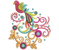 Fancy Bird embroidery design