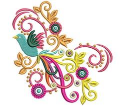Bird Swirls embroidery design