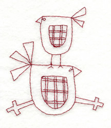 Snickerdoodle Two Birds embroidery design