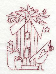Snickerdoodle Birdhouse embroidery design