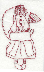 Country Gal Doll embroidery design