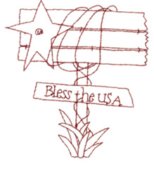 Bless The USA embroidery design