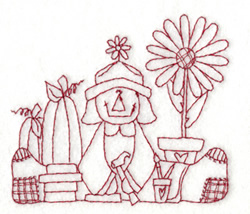 Country  Rag Doll embroidery design