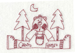 Cabin Fever embroidery design
