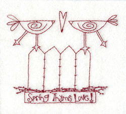 Spring Time Love embroidery design