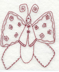 Butterfly embroidery design