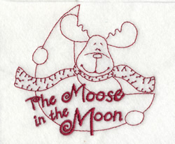 The Moose embroidery design