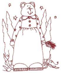 Snickerdoodle Grandma Bear embroidery design