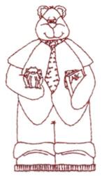 Snickerdoodle Grandpa Bear embroidery design