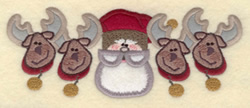 Four Reindeer Applique embroidery design