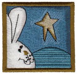 Bunny Stargazing embroidery design
