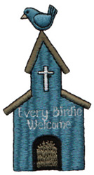 Every Birdie Welcome embroidery design