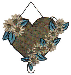 Hanging Heart embroidery design