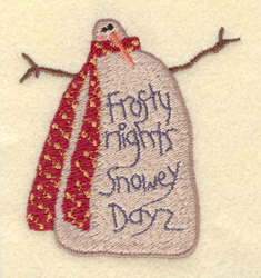 Frosty Nights embroidery design