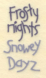 Snowey Dayz embroidery design