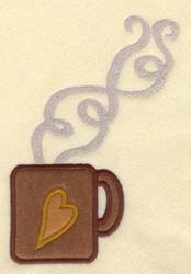 Mug  Applique embroidery design