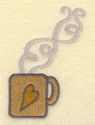 Mug With Heart embroidery design