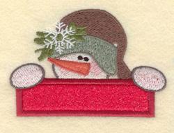 Small Snowman Head embroidery design