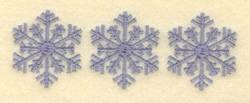 Three Snowflakes embroidery design