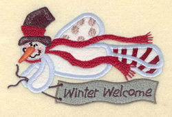 Winter Welcome embroidery design