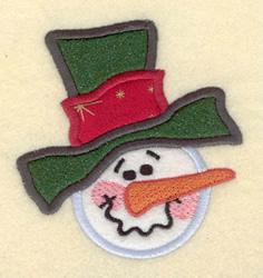 Snowman  Applique embroidery design