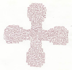 Medium Stipple Cross embroidery design