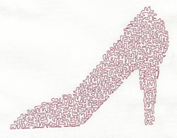 High Stipple Shoe embroidery design