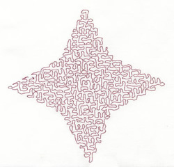Stipple Four Point Star embroidery design