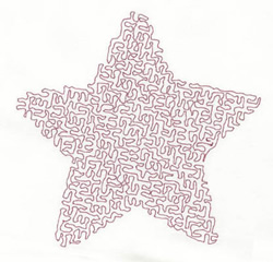 Stipple Five Point Star embroidery design