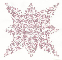 Stipple Star embroidery design